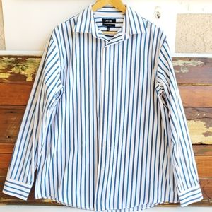 Apt.9 Slim Fit Button Down Shirt Fit Sz 17 34/35